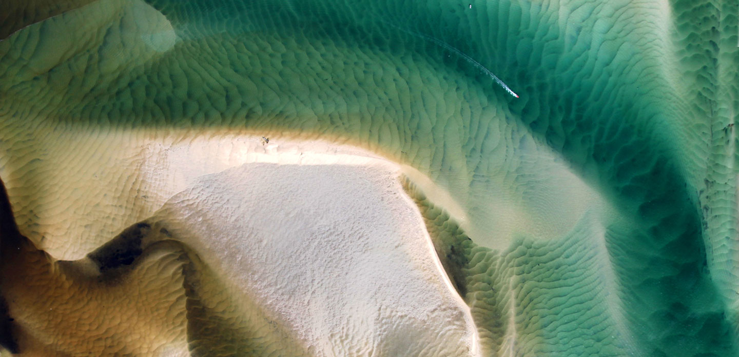 Water - Bribie Passage, Caloundra, 1,500 feet